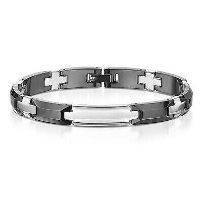 Black Ceramic & Stainless Steel Bracelet Slim Design