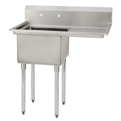 1 One Compartment Commercial Stainless Steel Prep Pot Sink 38.5 X 29.8