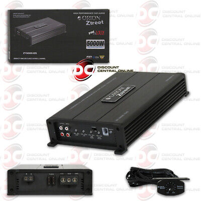 ORION ZT-5000.1DS ZT1 AMPLIFICATEUR D'AMPLIFICATEUR DE VOITURE MONN BLOCK CLASSE D 1-CHANNEL 5000W MAX