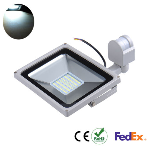 50W LED SMD Cool White Flood Light Lamp Outdoor Security PIR Motion Sensor 11