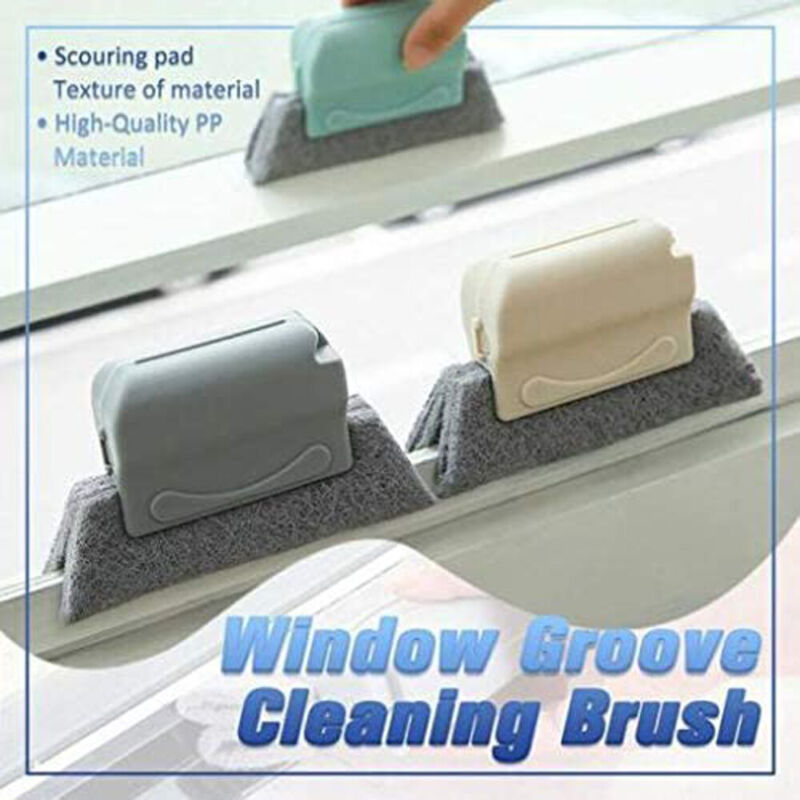 quickly clean all corners and crevices 4PCS window groove cleaning brush magic window cleaning brush the cleaning kit contains 3pcs window cleaning brushs(Beige3) and 1pcs dustpan.