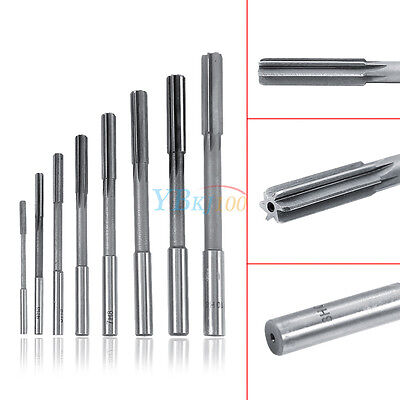 8pcs 3-10mm H8 Straight Shank Hss Chucking Reamers Milling Countersink Cutter