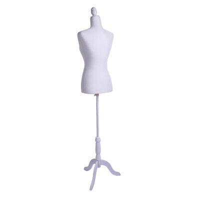 Half-length Lady Model Female Mannequin Torso Dress Display Holder Tripod Stand