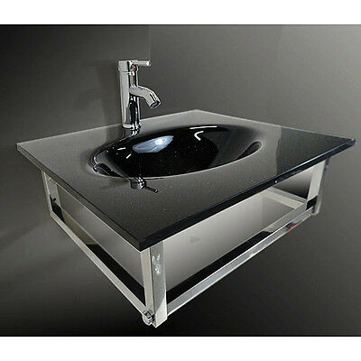 Mounting Combo Bathroom vanity Sink in Clear combo set 31