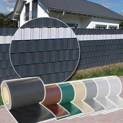 Sichtschutz Rolle blickdicht PVC Zaunfolie Windschutz für Doppelstabmatten Zaun
