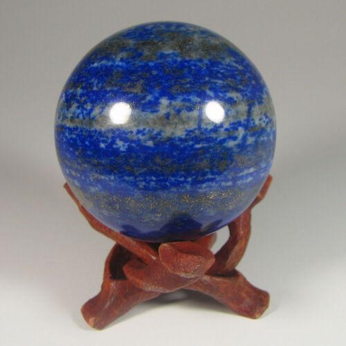 50mm LAPIS LAZULI Gemstone Sphere Ball w/ Stand - Pakistan
