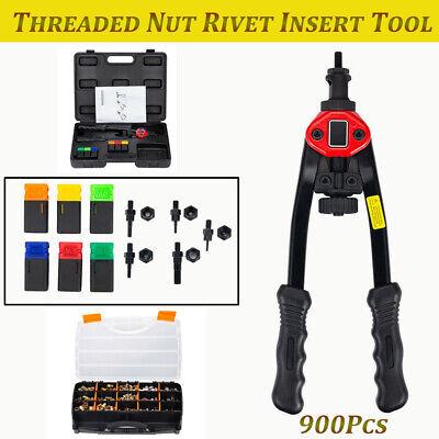 900pcs Threaded Nut Rivet Insert Tool Riveter Rivnut Nutsert Riveting Kit M3-m10