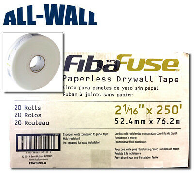 Fibafuse Paperless Drywall Joint Tape - 250-ft. X 2 Case Of 20 Rolls