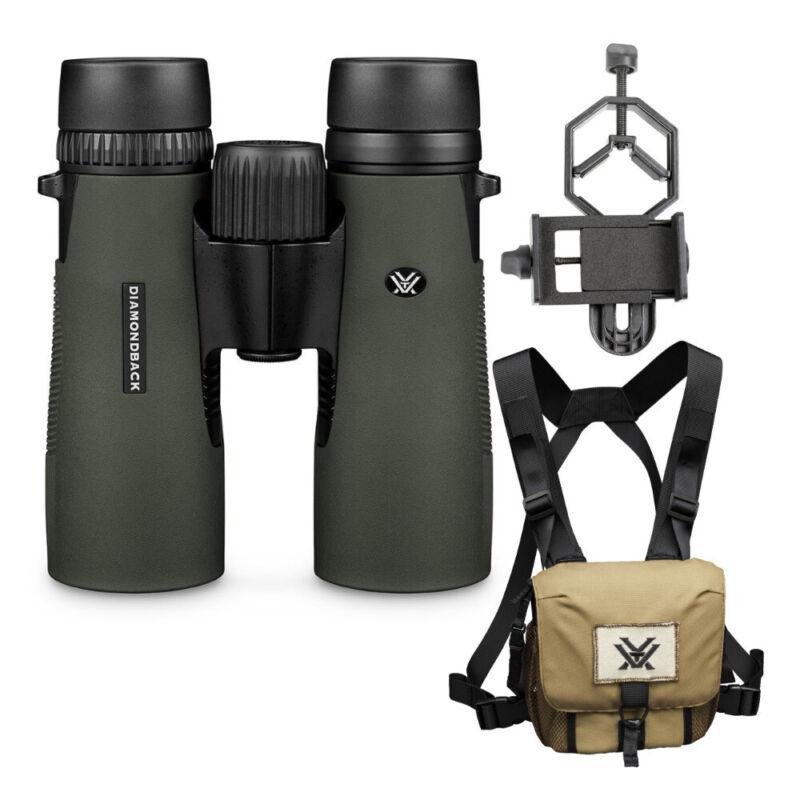 Vortex 8x42 Diamondback HD Roof Prism Binoculars with Glasspak & Phone Adapter