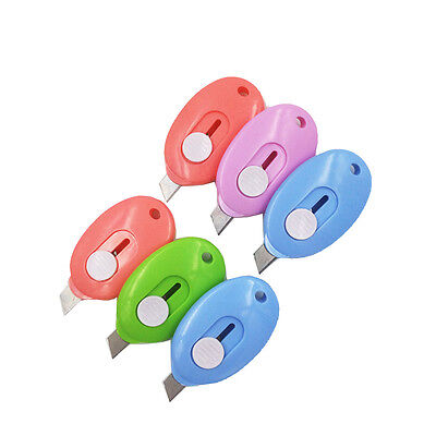 12pc Mini Cutter, Safety Blade, Auto-Retractable, Paper Cutter, Pocket Cutter