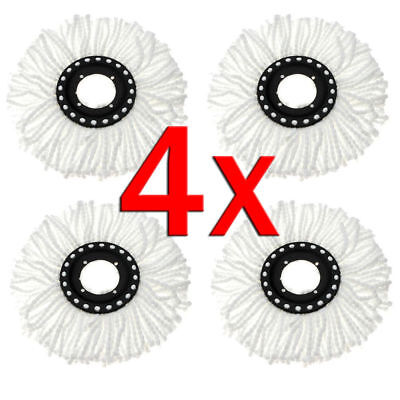 4 Pcs Replacement Microfiber Mop Head Refill For Magic Hurricane Spin Mop