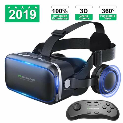 Virtual Reality Headset For iPhone Samsung Android With Headphones VR Sony LG X