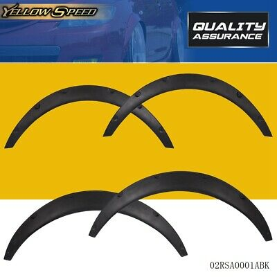 Universal 4 PCS Car Tires Fender Flares Flexible Durable Polypropylene Body Kit