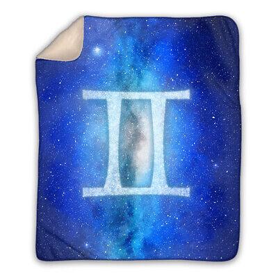Gemini - Zodiac Sign Horoscope - Large Sherpa Blanket - Best Gift for