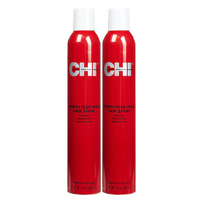 CHI Enviro Flex Hold Hair Spray Firm Hold 12 oz (Pack of 2)