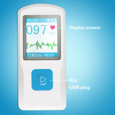 Portable Lcd Pm10 Usb Color Ecg Ekg Machine Heart Beat Rate Monitor Meter Fda