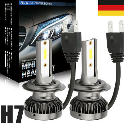 2× H7 LED Auto Scheinwerfer kit Fern- / Abblendlicht COB Lampen 6000K Canbus DHL
