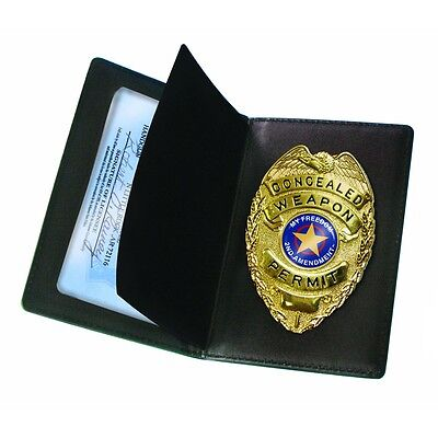 New - Concealed Carry Badge and Wallet - CHL Permit or ID - CWPB