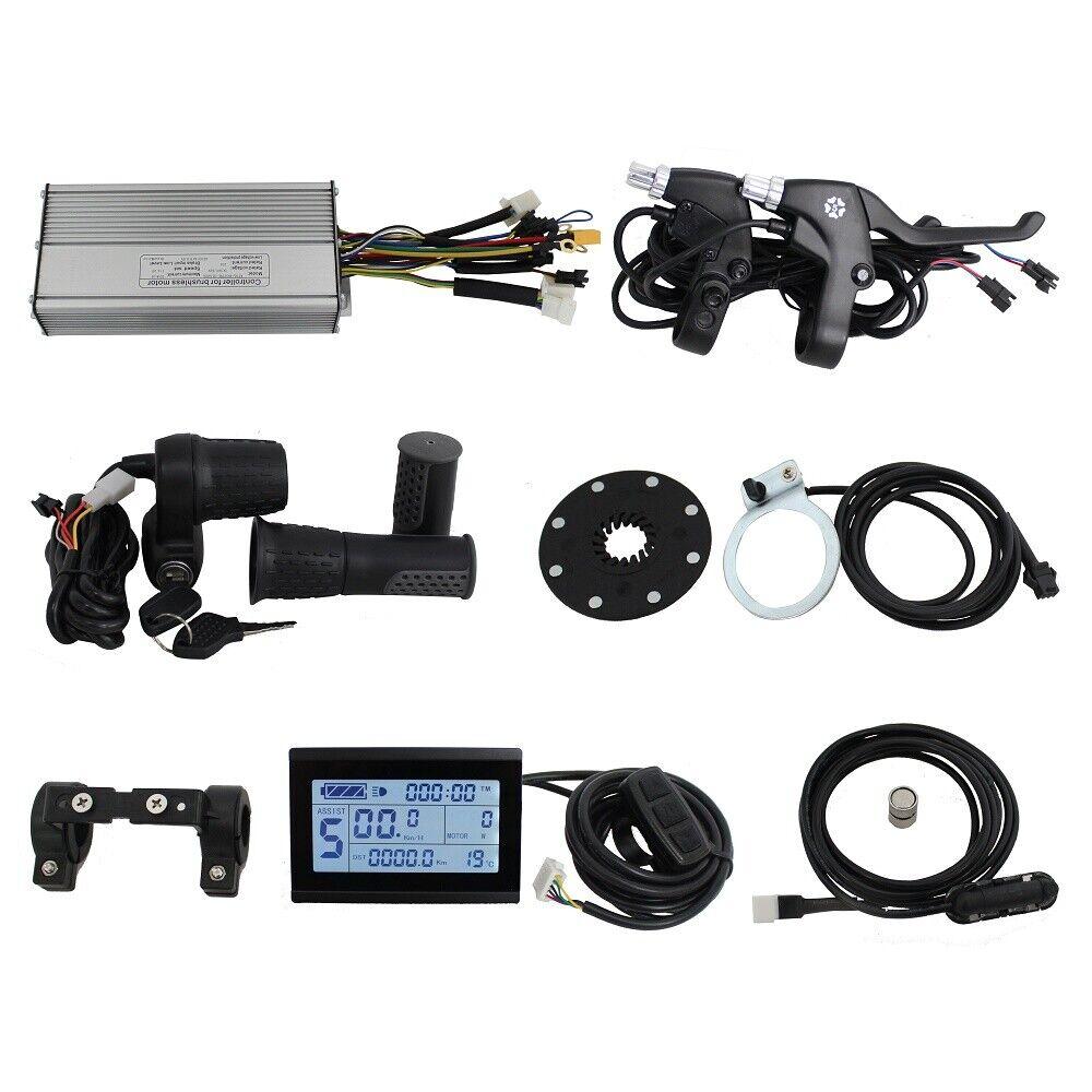 48V 1000W Brushless DC Sine Wave Controller+LCD Panel+Throttle+PAS+Sensor+Brake
