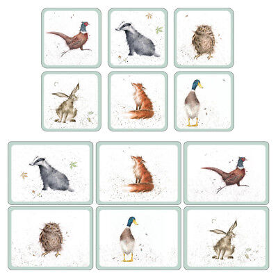 Pimpernel Wrendale Designs Placemats and Coasters Set of 6 Fun Modern Home