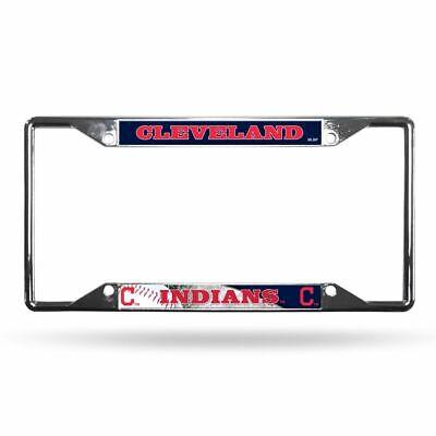 Cleveland Indians MLB Chrome EZ View 4 corner License Plate