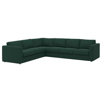 IKEA Vimle 2+3 Corner sofa Cover set in Gunnared green + armrest...