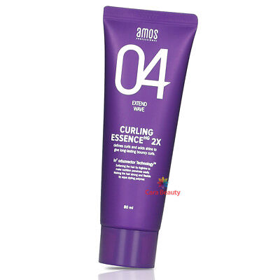 amos CURLING ESSENCE 2X 80ml (2.7oz) Curl Enhancing Cream / Long-lasting bouncy