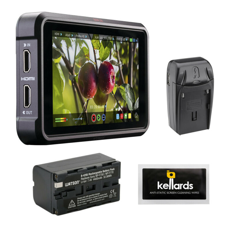 "Atomos Ninja V 5"" 4K HDMI Monitor w/ Battery Pack, Charger & Cleaning Wipes"
