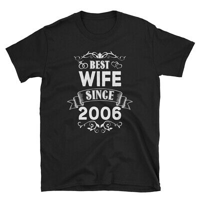 Best Wife Since 2006 Cotton T-Shirt, Wedding 14th Anniversary Gift for Her