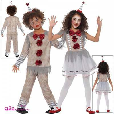 Halloween Clown Girl Outfit.Boys Girls Vintage Clown Costume Kids Halloween Pennywise It Fancy Dress Outfit
