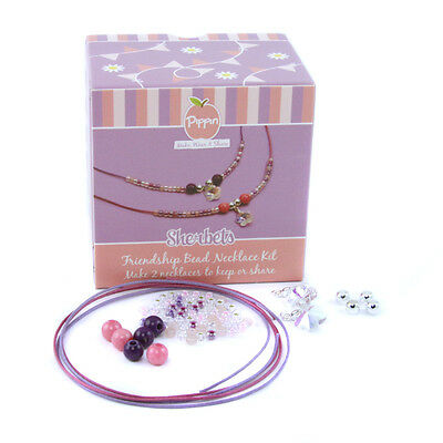 Pippin - Friendship Bead Necklace Kit - Sherberts - Beads, Charms & Cords For 2