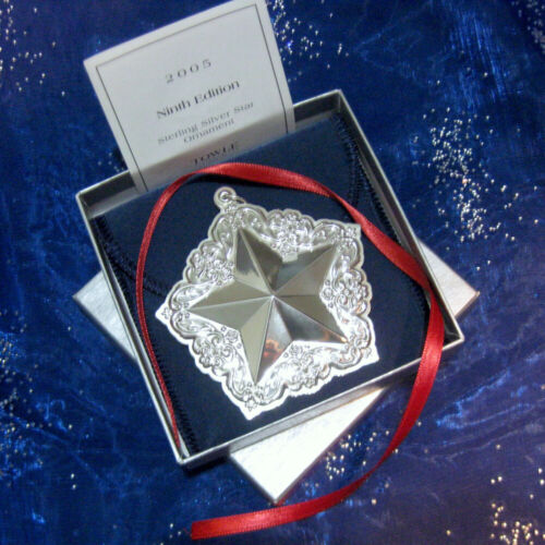 NEW • Towle 2005 Old Master STAR Sterling Silver Christmas Ornament 9th Ed