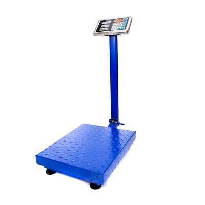 660lb 300kg X 100g Digital Weight Shipping Industrial Platform Postal Scale Blue