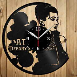 Vinyl Clock Breakfast at Tiffany's  Original Vinyl  Clock  Decor Handmade Gift