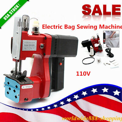 Industrial Electric Bag Stitching Closer Seal Sewing Machine 6mm Red 110v