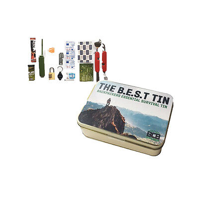 BCB Backpacker Essentials Survival Tin B.E.S.T Walking Hiking Scouts