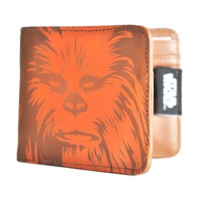 Genuine Star Wars Chewbacca Bi-Fold Wallet Gift Boxed Retro Gift Faux Leather
