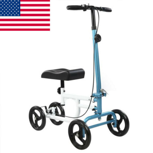 ELENKER Blue All-Road Steerable Knee Walker Medical Scooter