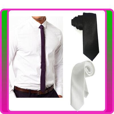 1920s Mens Gangster Black White Tie 20s Gatsby Fancy Dress Costume Accessory