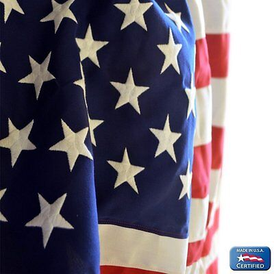4x6' 2 Ply Polyester - 4x6 FT US American Flag Koralex 2 Ply Poly Valley Forge Flag Embroidered & Sewn