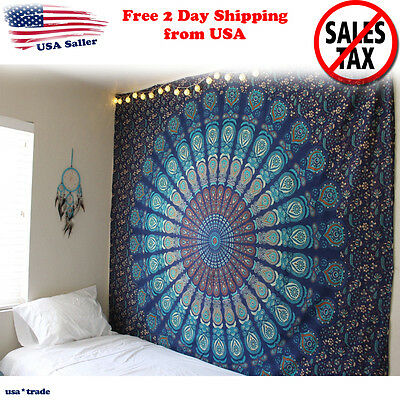 Wall Hanging Indian Ethnic Dorm Decor Hippie Mandala Tapestry Bohemian Bedspread