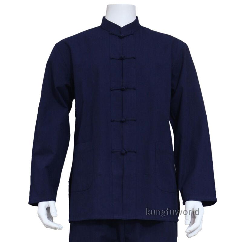 Pure Cotton Shaolin Kung fu Jacket Martial arts Top Tai Chi Wing Chun Coat