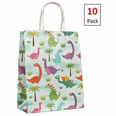 10 Pack Party Favors Dinosaur Bags Supplies Gift For Boys And Girls Baby Shower](Gift Bags For Baby Shower Favors)