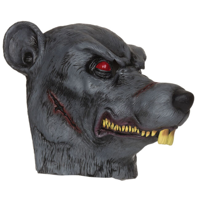 ADULT HALLOWEEN PARTY ZOMBIE RAT RUBBER MASK FANCY DRESS ACCESSORY