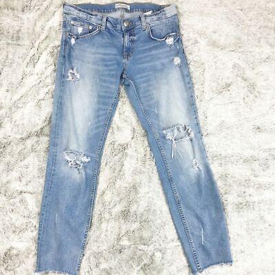 GUC✨ZARA Premium Denim Distressed jeans 6