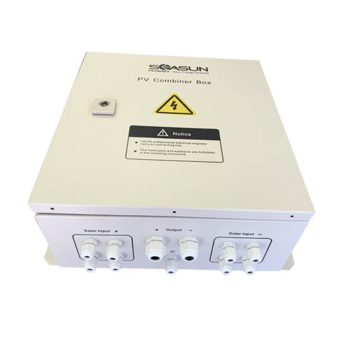 PV combiner box with lightning proof anti reverse current, 4 strings to 1