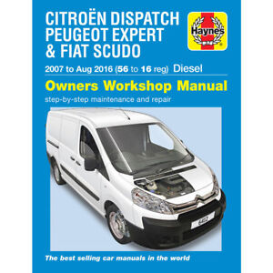 citroen dispatch haynes manual 2007-16 peugeot expert fiat scudo workshop