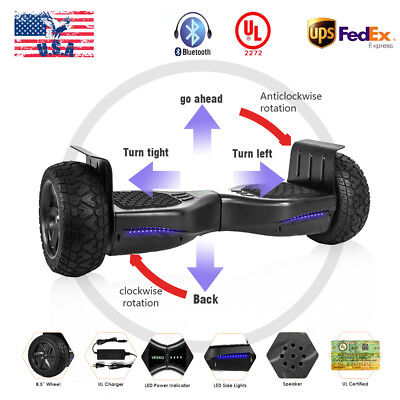 """8.5"""" Off Road Bluetooth Electric Self Balancing Scooter Hoverboard UL2272"""