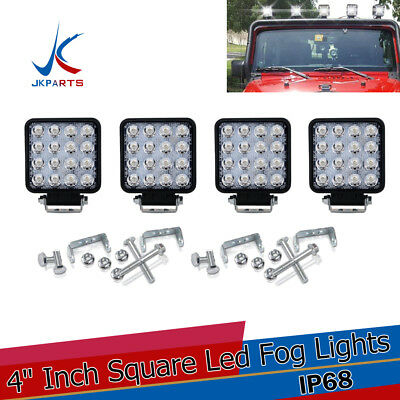 4 inch 48W LED Work Light Flood Combo For Off Road Truck Boat SUV Cube Pods 4PCS