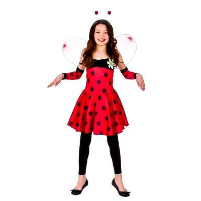 Lovely Lady Bug Kostüme (Child LOVELY LADYBUG LADYBIRD GIRL Fancy Dress Costume Outfit Book Week Age 3-10)